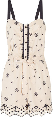 ALICE by Temperley Poppy printed cotton playsuit