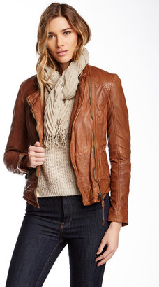 Muubaa Kendyll Genuine Leather Biker Jacket $485 thestylecure.com