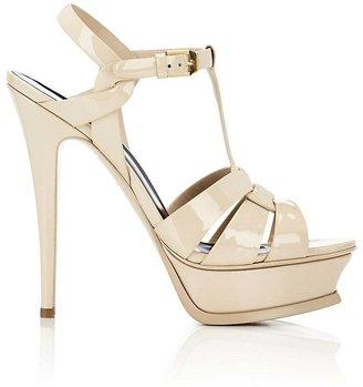 Saint Laurent Women's Tribute Platform Sandals $895 thestylecure.com