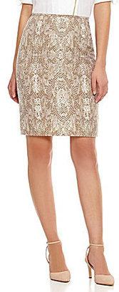 Calvin Klein Snake-Print Pencil Skirt