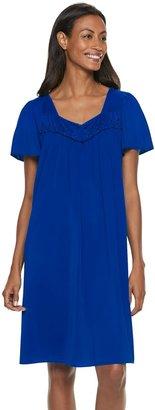 Miss Elaine Women's Essentials Pajamas: Short Tricot Nightgown