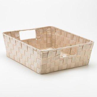 Whitmor woven shelf tote - large