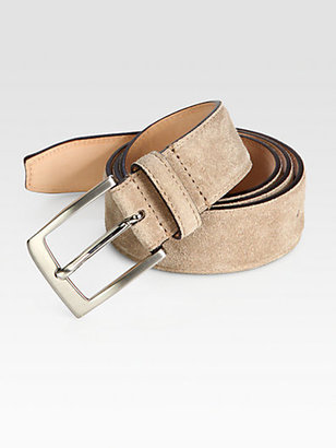 Saks Fifth Avenue Collection Suede Belt