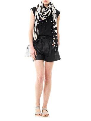 Diane von Furstenberg Zebra Shadow print new busby day scarf