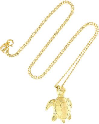 Jennifer Meyer 18-karat gold diamond turtle necklace
