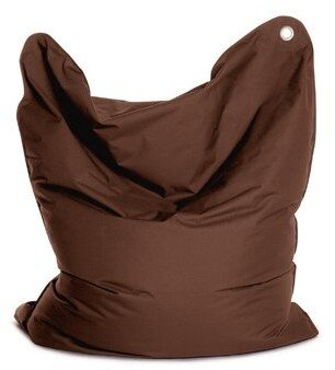 The Bull Large Bean Bag Chair & Lounger Sitting Bull Upholstery Color: Dark Brown