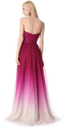 Monique Lhuillier Strapless Sweetheart Gown