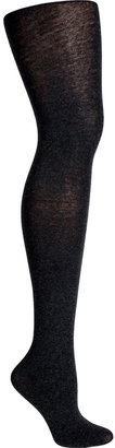 Fogal Anthracite Heather Cotton-Cashmere Touch Tights