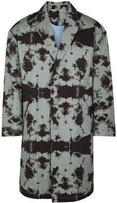 MISTERGENTLEMAN Grey Tie-dyed Reversible Cotton Coat