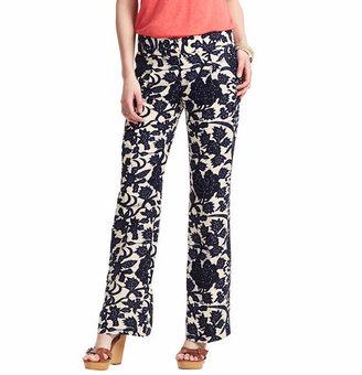 LOFT Marisa Wide Leg Linen Blend Pants in Vine Print