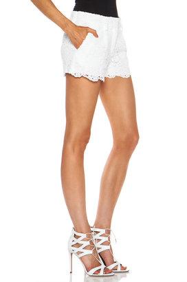 Diane von Furstenberg Naples Hippolyte Cotton Shorts in White