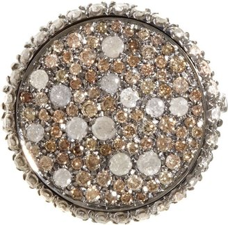 Ice Diamond Roberto Marroni Women's Brown & Sand Ring-Colorless