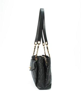 Chanel Pre-owned: black quilted caviar leather 'Matelasse' shoulder bag