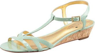 Kate Spade Violet Cork Wedge Sandal, Seafoam