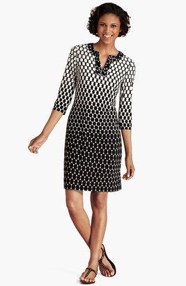 Donna Morgan Embellished Print Jersey Shift Dress