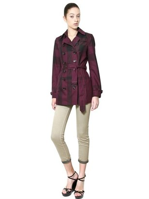 Burberry Double Breasted Gabardine Trench Coat