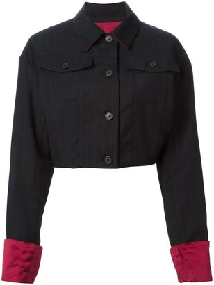 Dolce & Gabbana Pre-Owned Pinstriped Cropped Jacket