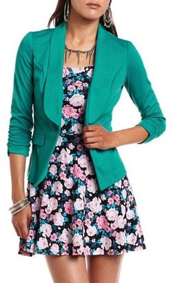 Charlotte Russe Ponte-Knit Shawl Collar Blazer