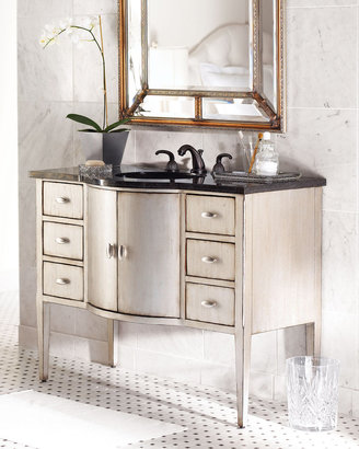 Ambella Silver-Finished Chest with Sink