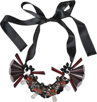 Marni Ribbon and resin necklace