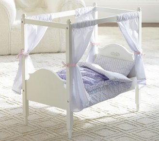 Pottery Barn Kids Doll Madeline Canopy Bed & Floral Bedding