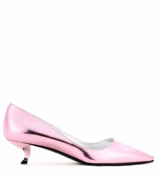 Roger Vivier Virgule metallic-leather pumps