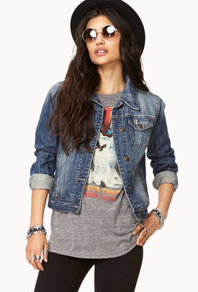 Forever 21 Distressed Denim Jacket