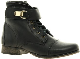 Steve Madden Tennasee Leather Lace Up Ankle Boots