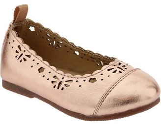 Old Navy Scalloped-Eyelet Ballet Shoes for Baby