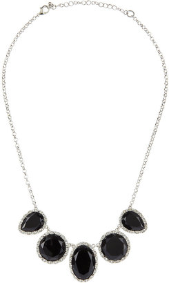 Lydell NYC Five-Station Necklace, Black