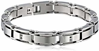 Black Diamond Cold Steel Men's Stainless Steel Bracelet