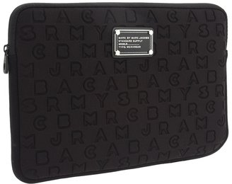 Marc by Marc Jacobs Dreamy Logo Neoprene 11 Computer Case (Black) - Bags and Luggage