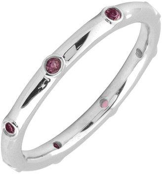 Simply Stacks Sterling Rhodolite Garnet Multi-stone Stack Ring