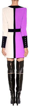 Vionnet Suede/Leather Over-The-Knee Boots in Black