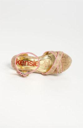 KensieGirl Cross Strap Wedge Sandal (Toddler, Little Kid & Big Kid)