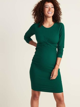 Old Navy Maternity Twist-Front Bodycon Dress