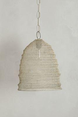 Anthropologie Mesh Beehive Pendant Lamp