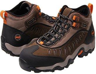 Timberland Mudslinger Mid Waterproof Steel Toe (Brown Nubuck Leather) Men's Work Boots