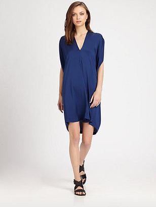 Vince Silk Georgette Draped Dress