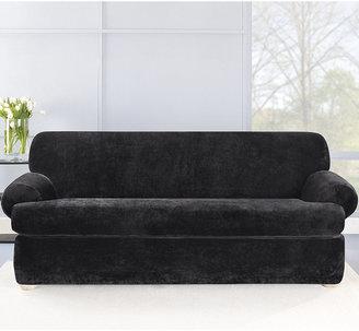 Sure Fit Stretch Plush 2-Piece T-Sofa Slipcover