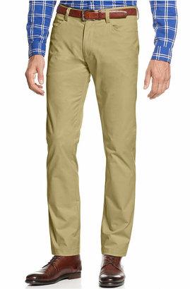 Calvin Klein Men's Sateen Slim-Fit Stretch Pants $58 thestylecure.com