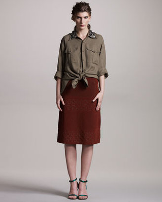 Alberta Ferretti Beaded Skirt