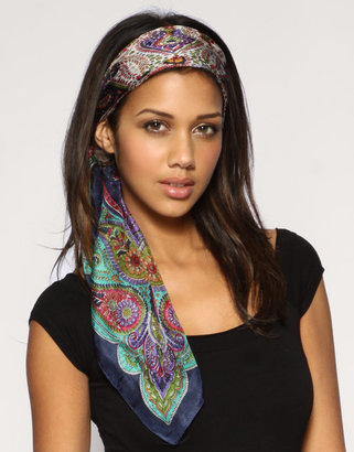 Asos Bright Traditional Silk Scarf