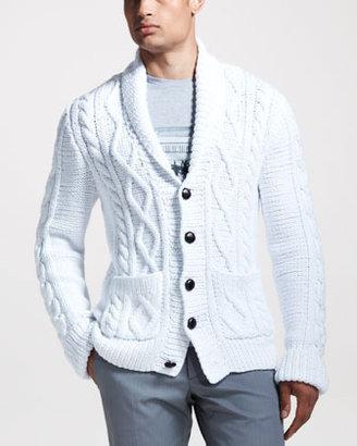 Maison Martin Margiela Hand-Knit Cable Cardigan