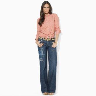 Lauren Ralph Lauren Ralph Wide-Leg Graphic Jean