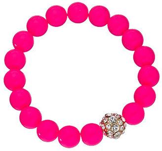 Blu Bijoux Gold Neon Crystal Beaded Bracelet