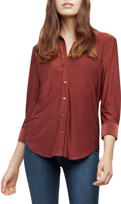 L'Agence Dani 3/4-Sleeve Button-Down Blouse