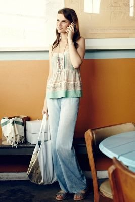 Level 99 Chambray Wide-Legs Cloud 32 Pants