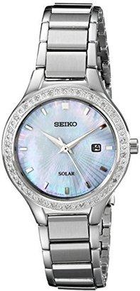 Seiko Women's SUT135 Dress Solar Analog Display Japanese Quartz Silver Watch $133.57 thestylecure.com