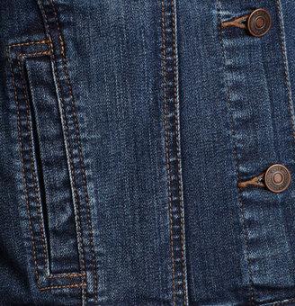 LOFT Petite Cropped 3/4 Sleeve Denim Jacket